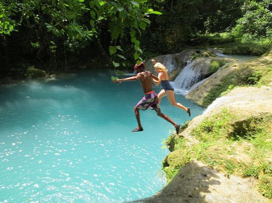 Blue Hole Secret Falls Tour